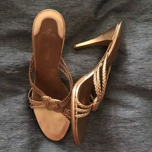 Enzo Angiolini Golden Sandals 7